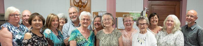 Group of happy volunteers
