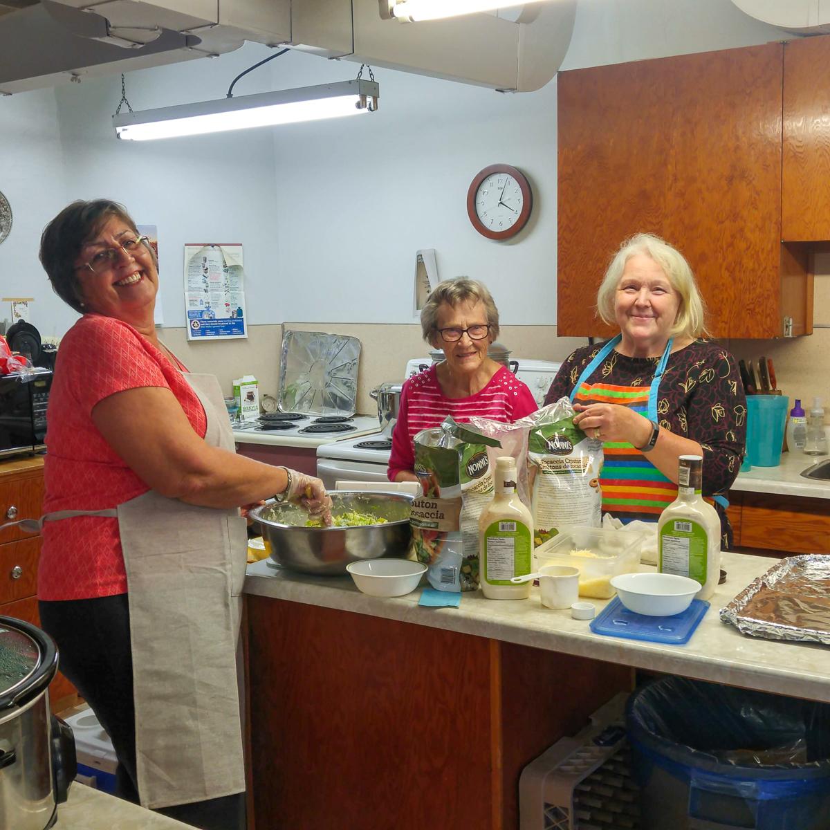 Volunteers in the kitchen